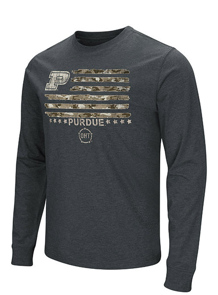 Purdue Operation Hat Trick Long Sleeve T-Shirt, Click to See Larger Image