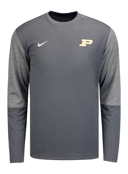 Purdue Nike Sideline Dri-FIT® Coaches UV Long Sleeve T-Shirt, Click to See Larger Image