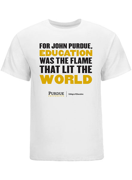 Purdue College of Education For John Purdue T-Shirt, Click to See Larger Image