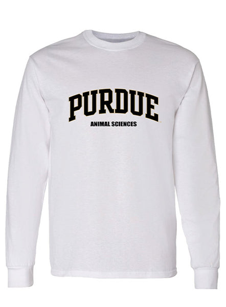Purdue Animal Sciences Long Sleeve T-Shirt, Click to See Larger Image