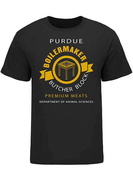 Purdue Butcher Block T-Shirt, Click to See Larger Image