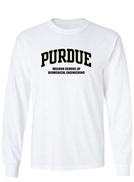 Purdue Weldon School of Biomedical Engineering Long Sleeve T-Shirt, Click to See Larger Image