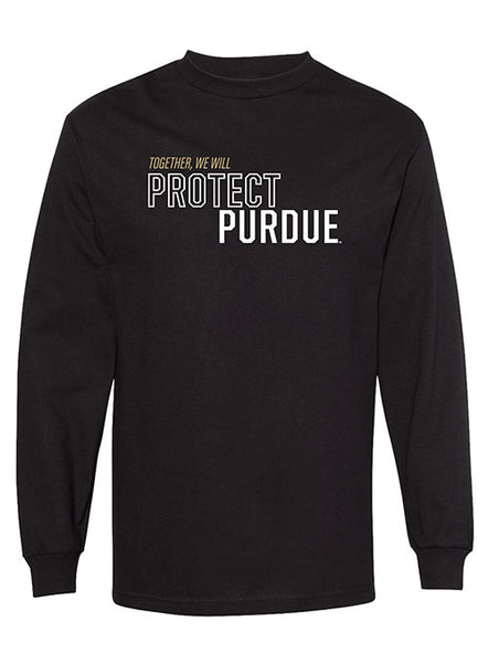 Together We Will Protect Purdue Long Sleeve T-Shirt, Click to See Larger Image