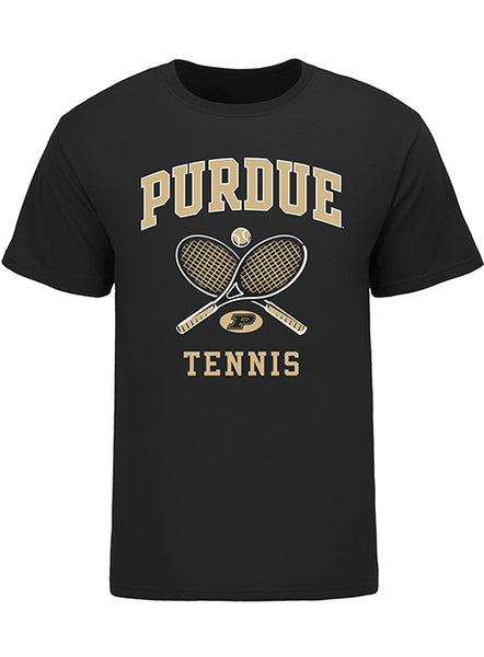Purdue Classic Collegiate Tennis T-Shirt, Click to See Larger Image