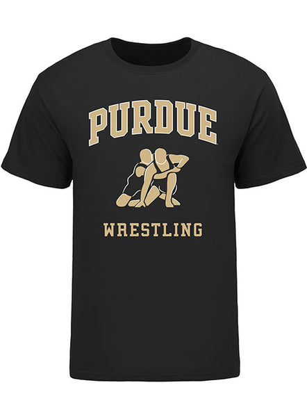 Purdue Classic Collegiate Wrestling T-Shirt, Click to See Larger Image