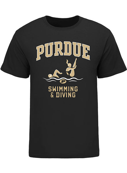Purdue Classic Collegiate Swimming & Diving T-Shirt, Click to See Larger Image