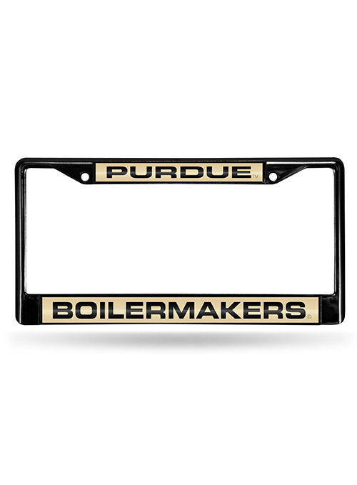 Dad Purdue University Boilmakers Metal License Plate Frame for Front or Back of Car Officially Licensed