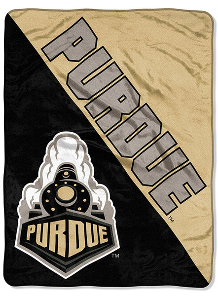 Purdue Micro Raschel Throw Blanket, Click to See Larger Image