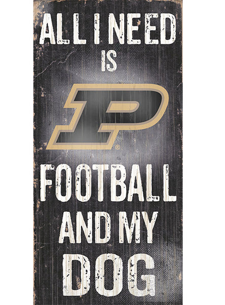 Purdue Football & My Dog Sign, Click to See Larger Image