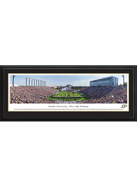 Purdue Ross-Ade Stadium Deluxe Framed Panorama Print, Click to See Larger Image