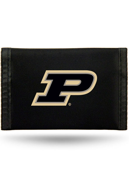 Purdue Nylon Tri-Fold Wallet, Click to See Larger Image