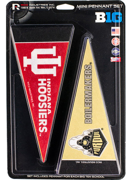 Purdue Mini Pennant Set, Click to See Larger Image