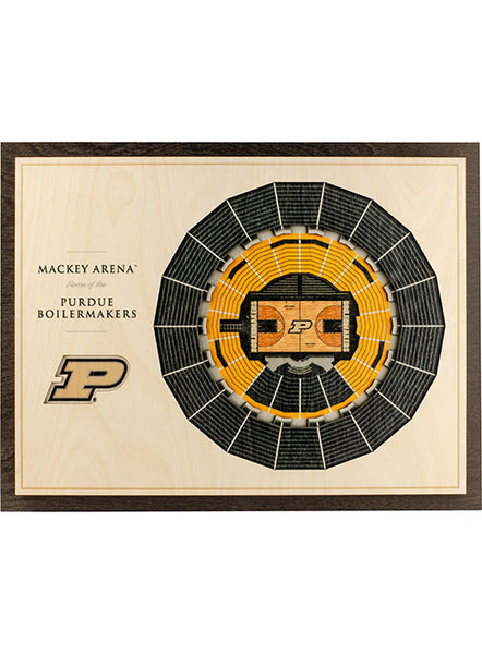 Purdue Mackey Arena Wall Art, Click to See Larger Image
