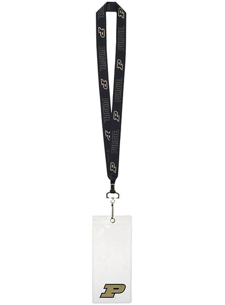 Purdue Lanyard and Credential Holder, Click to See Larger Image