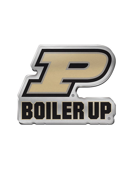 Purdue Metallic Auto Emblem, Click to See Larger Image