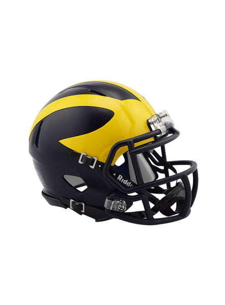 Michigan Riddell Speed Mini Helmet, Click to See Larger Image