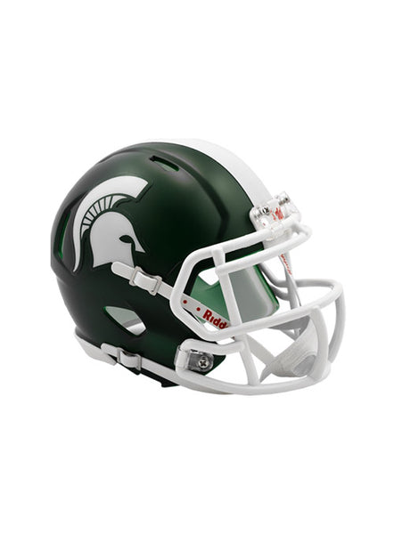 Michigan State Riddell Speed Mini Helmet, Click to See Larger Image