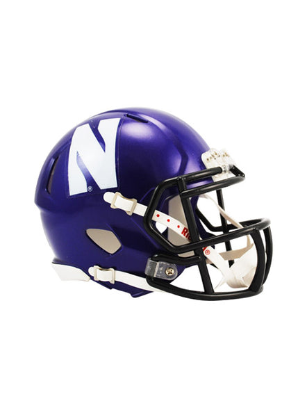 Northwestern Riddell Speed Mini Helmet, Click to See Larger Image