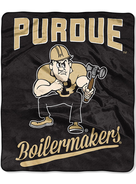 Purdue Plush Raschel Throw Blanket, Click to See Larger Image
