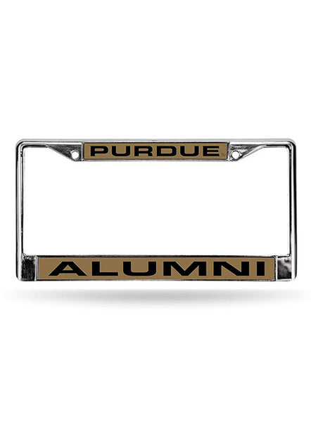 Purdue Alumni Laser-Cut License Plate Frame, Click to See Larger Image