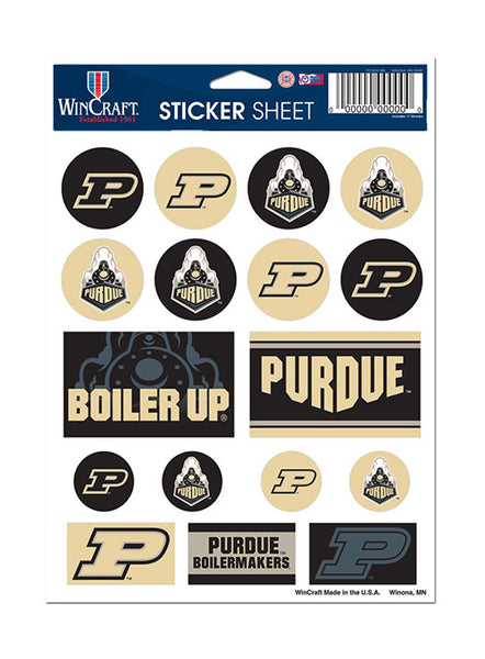 Purdue Vinyl Sticker Sheet, Click to See Larger Image