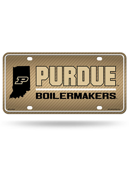 Purdue Metal License Plate, Click to See Larger Image