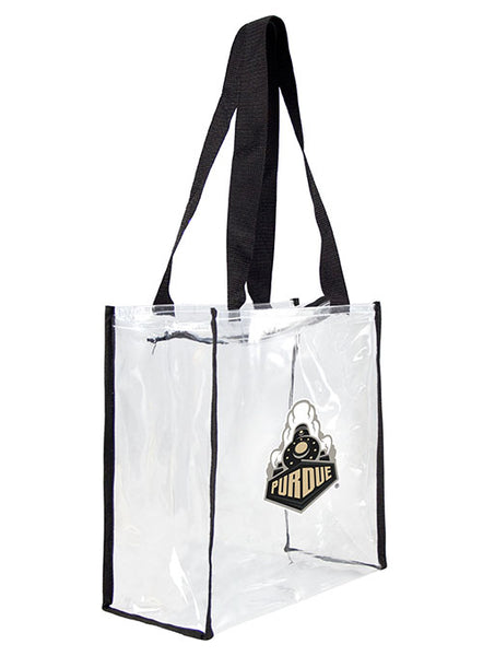 Purdue Clear Zipper Tote Bag, Click to See Larger Image