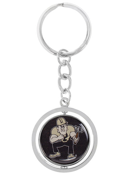Purdue Spinner Keychain, Click to See Larger Image