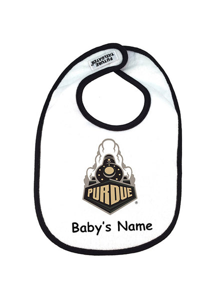 Purdue Personalized 2-Ply Baby Bib, Click to See Larger Image