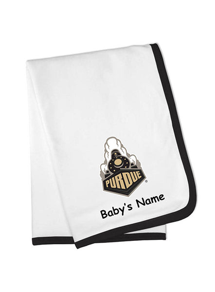 Purdue Personalized Baby Blanket, Click to See Larger Image