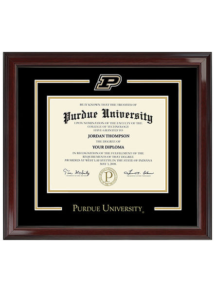 Purdue University Spirit Medallion Bachelor's Degree Diploma Frame, Click to See Larger Image