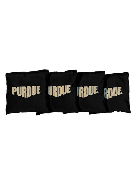 Purdue Black Cornhole Bags, Click to See Larger Image