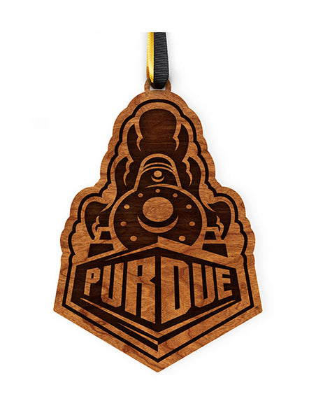 Purdue Train Logo Ornament, Click to See Larger Image