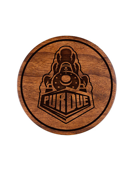 Purdue Wood Coaster Set, Click to See Larger Image