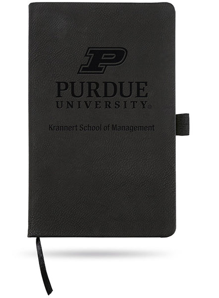 Purdue University Krannert School of Management Laser Engraved Notebook, Click to See Larger Image