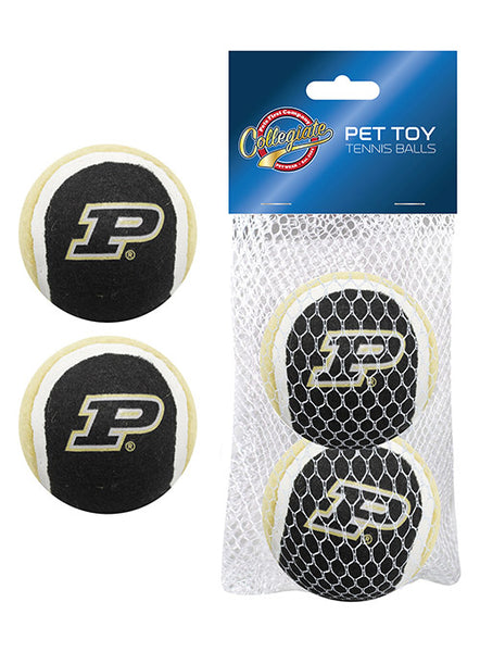 Purdue Tennis Ball 2-Pack Pet Toys, Click to See Larger Image