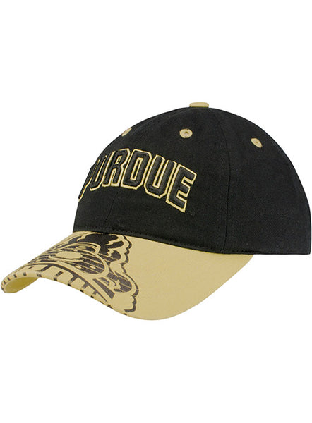 Youth Purdue Printed Bill Unstructured Adjustable Hat, Click to See Larger Image