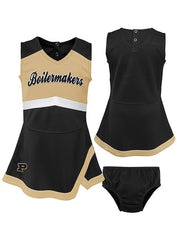 Toddler Purdue Cheer Captain Jumper Dress