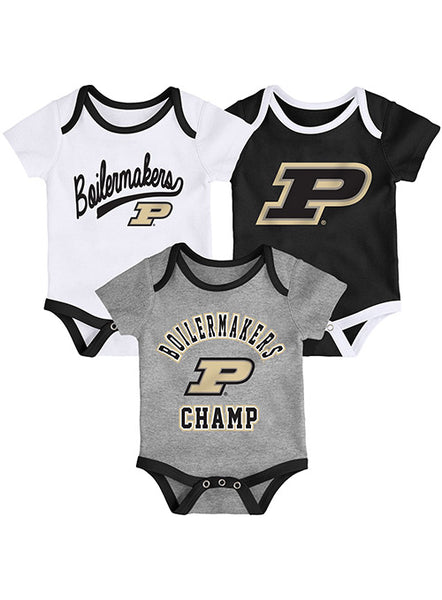 Newborn Purdue Onesies 3-Pack Set, Click to See Larger Image