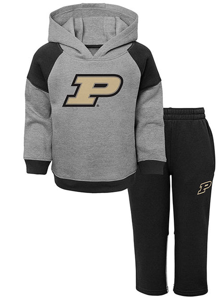 Toddler Purdue Sideline Hooded Sweatshirt and Pant Set, Click to See Larger Image