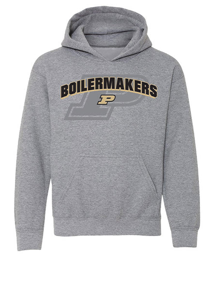 Youth Purdue Layered Graphic Hooded Sweatshirt, Click to See Larger Image