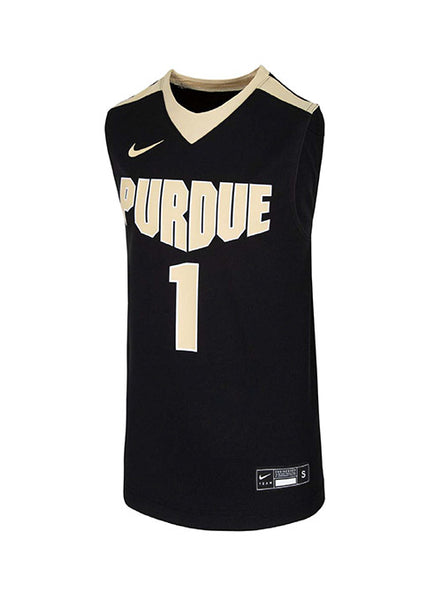 Youth Purdue Nike #1 Basketball Jersey, Click to See Larger Image