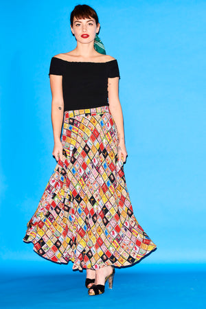 Coco X Emily May matchbox skirt