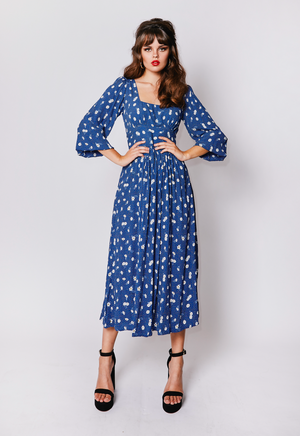 Navy flower dolly dress *pre-order*