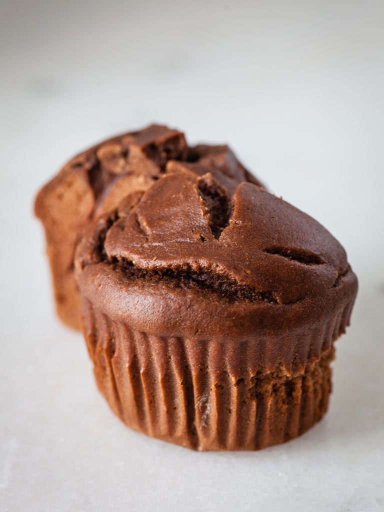 Easy Blender Chocolate Banana Muffins