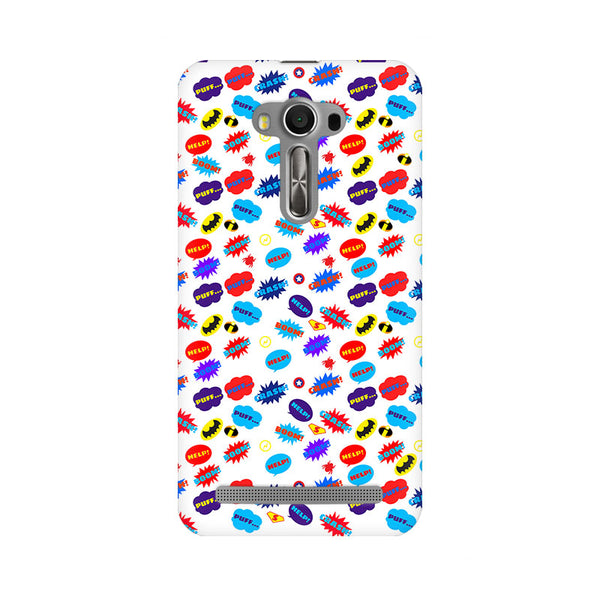 All Superheroes On White Clipart Asus Zenfone 2 Laser ZE500KL Comic Mobile Cover Fully Funky