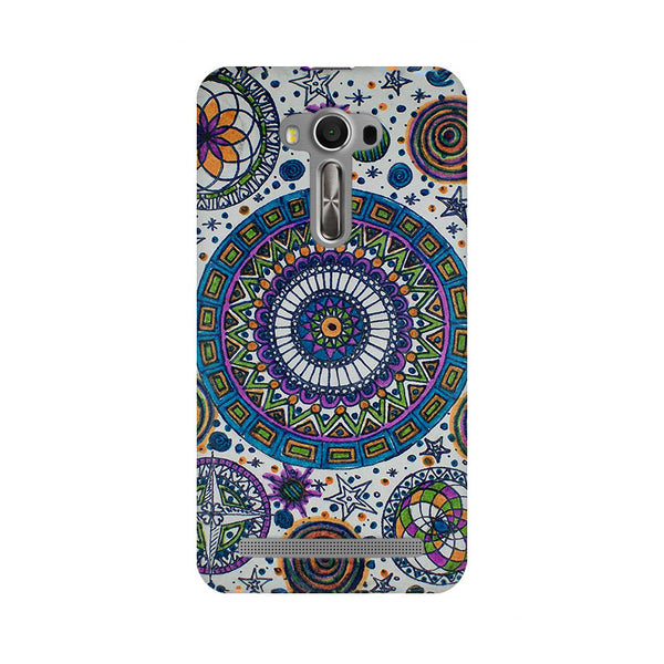 Abstract Colorful Asus Zenfone 2 Laser ZE550KL Dil Se Desi Mobile Cover Fully Funky