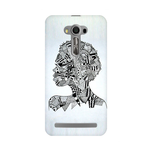 Afro Girl Doodle Asus Zenfone 2 Laser ZE550KL Abstract Mobile Cover Fully Funky