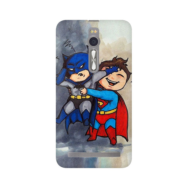 Batman And Superman Kids Asus Zenfone 2 Comic Mobile Cover Fully Funky