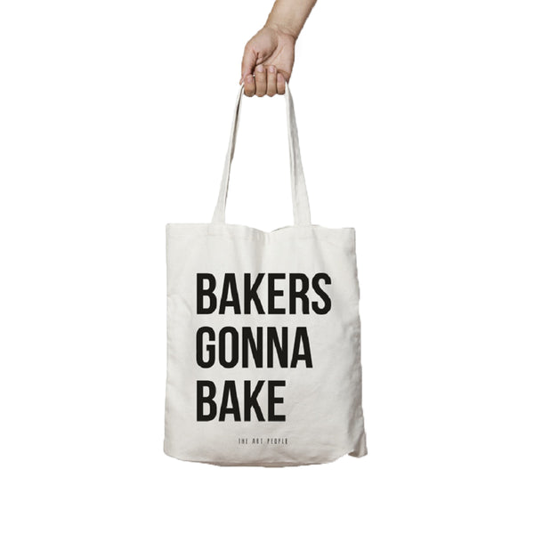 Bakers Gonna Bake Canvas Jute Tote Bag Reusable Bag Fully Funky
